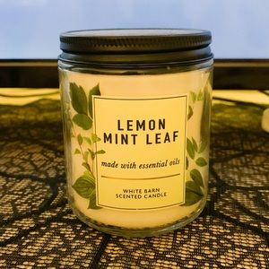 Lemon Mint Leaf Bath and Body Works Candle